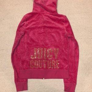 Juicy couture velour zip up hoodie size medium